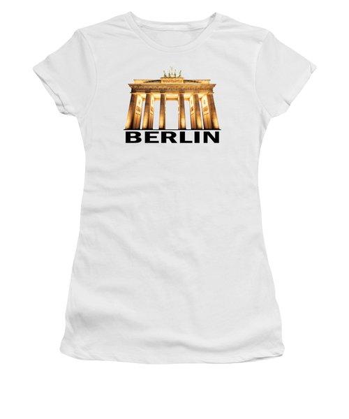 Brandenburg Gate Women's T-Shirt (Junior Cut)