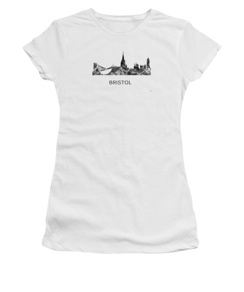 Bristol England Skyline Women's T-Shirt (Athletic Fit)