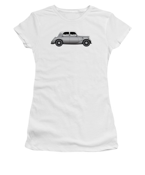 Women's T-Shirt (Junior Cut) featuring the digital art Coupe - Vintage Model Of Car by Michal Boubin