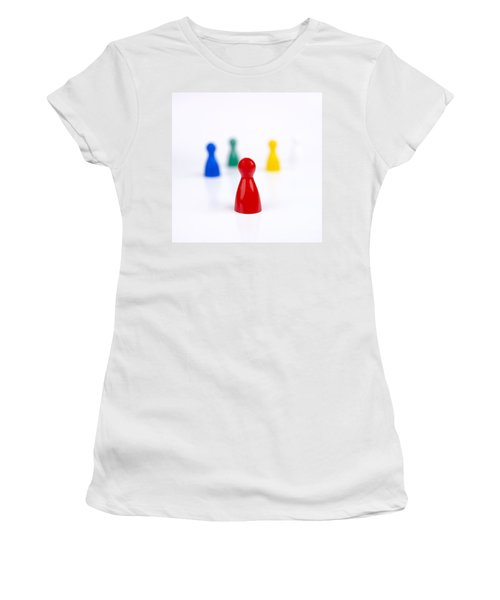Game Pieces In Various Colours Women's T-Shirt