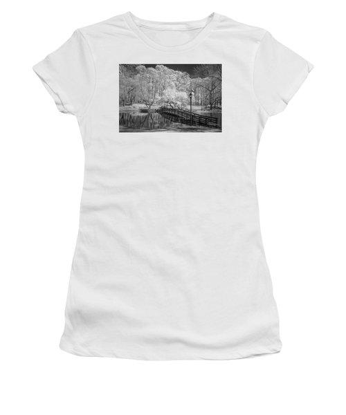 Bridge Over Water Women's T-Shirt (Junior Cut) by Denis Lemay