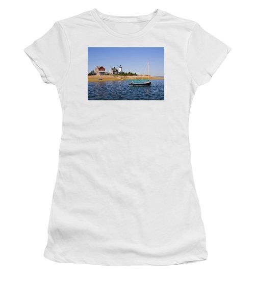 Sandy Neck Lighthouse Women's T-Shirt (Athletic Fit)