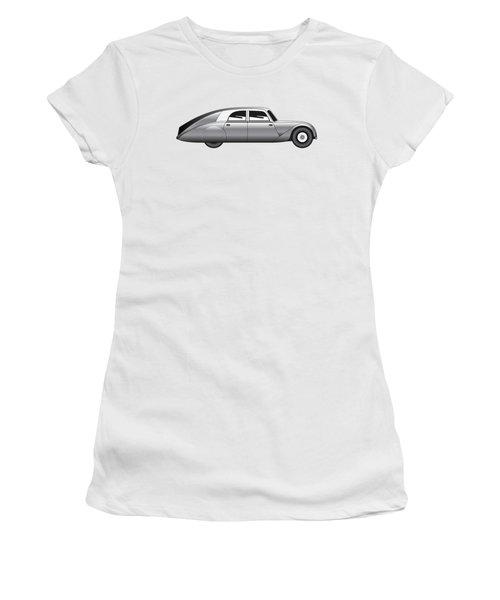 Sedan - Vintage Model Of Car Women's T-Shirt (Junior Cut) by Michal Boubin
