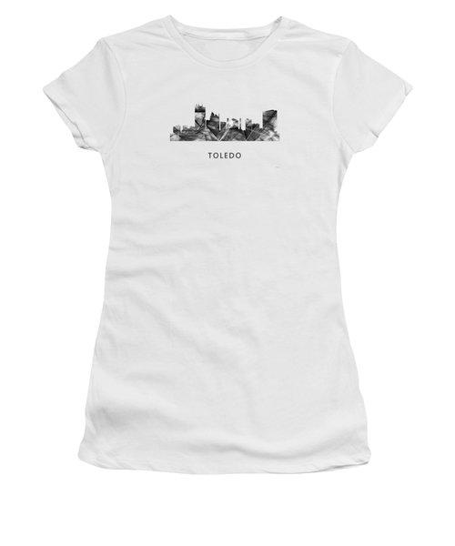 Toledo Ohio Skyline Women's T-Shirt (Junior Cut) by Marlene Watson