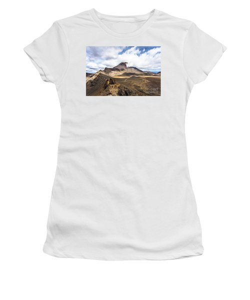 Tongariro Alpine Crossing In New Zealand Women's T-Shirt (Athletic Fit)