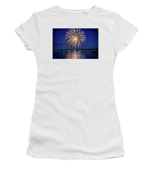 Women's T-Shirt (Athletic Fit) featuring the photograph 4th Of July Fireworks by Rick Berk