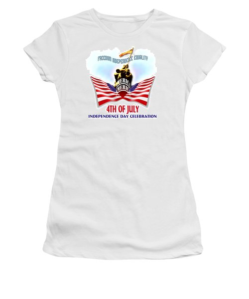 4th Of July Independence Day Design Women's T-Shirt