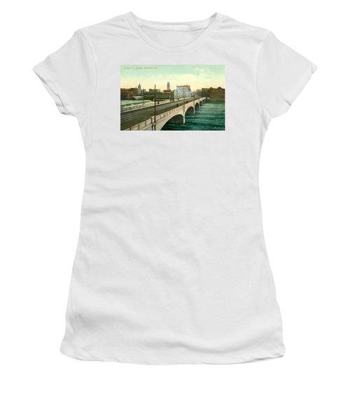 4th Street Bridge Waterloo Iowa Women's T-Shirt