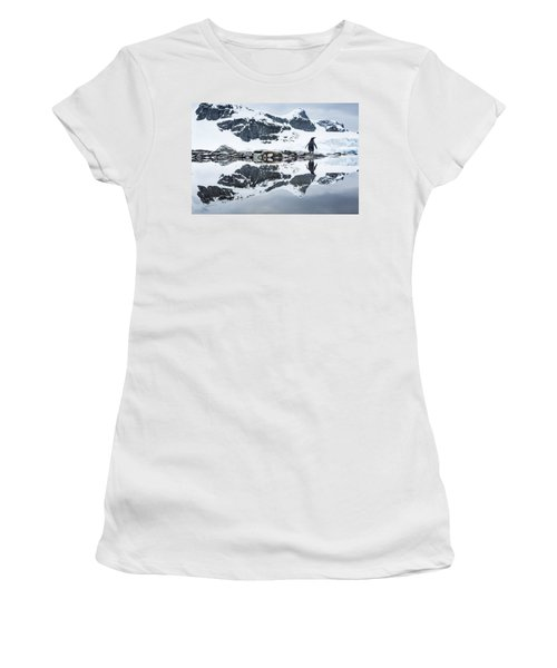 Antarctica, Cuverville Island, Gentoo Women's T-Shirt