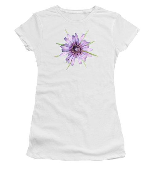 Salsify Flower Women's T-Shirt (Junior Cut) by George Atsametakis