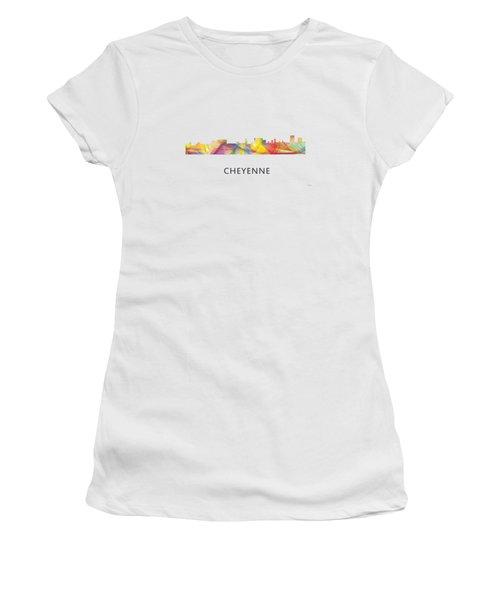 Cheyenne Wyoming Skyline Women's T-Shirt