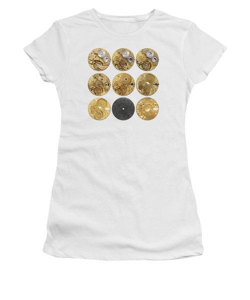 Clockwork Mechanism Women's T-Shirt (Junior Cut) by Michal Boubin