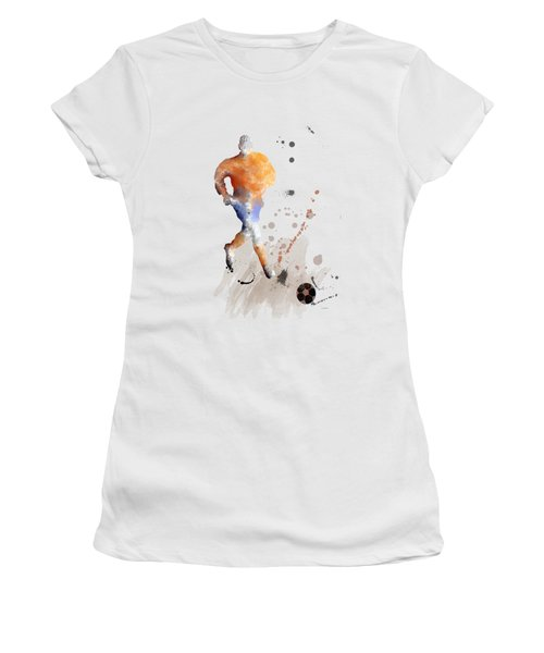 Football Player Women's T-Shirt (Junior Cut) by Marlene Watson