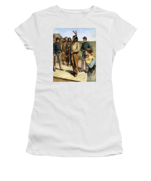 Women's T-Shirt featuring the photograph Geronimo 1829-1909.  To License For Professional Use Visit Granger.com by Granger