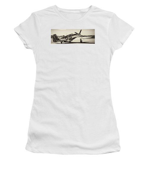 P51 Mustang Women's T-Shirt (Athletic Fit)
