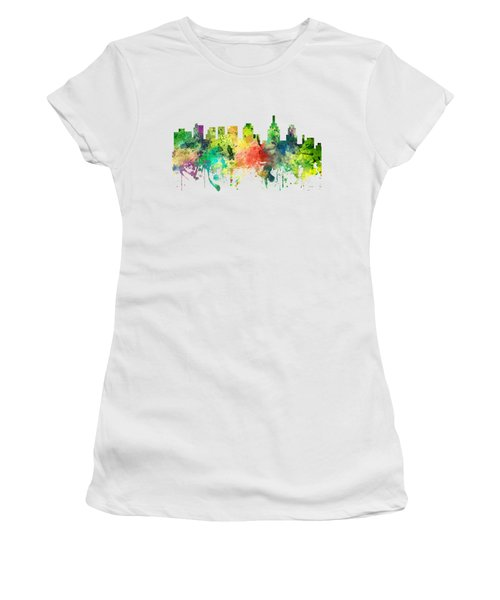 Philadelphia Pennsylvania Skyline Women's T-Shirt (Athletic Fit)