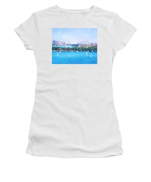 Sydney Harbour And The Opera House By Jan Matson Women's T-Shirt