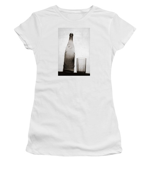 Women's T-Shirt (Junior Cut) featuring the photograph Vintage Beer Bottle by Andrey  Godyaykin