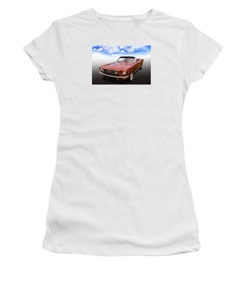 Women's T-Shirt (Junior Cut) featuring the photograph 65 Mustang by Keith Hawley