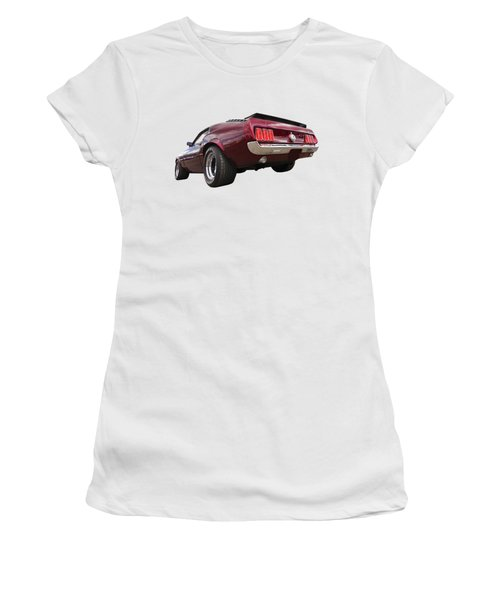 '69 Mustang Rear Women's T-Shirt (Athletic Fit)