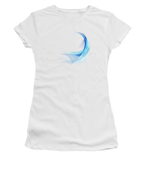 Women's T-Shirt (Junior Cut) featuring the painting Abstract Feather by Setsiri Silapasuwanchai