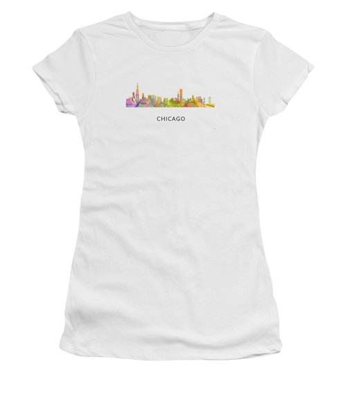 Chicago Illinois Skyline Women's T-Shirt