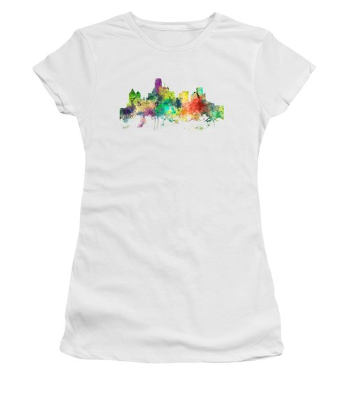 Dallas Texas Skyline Women's T-Shirt (Athletic Fit)