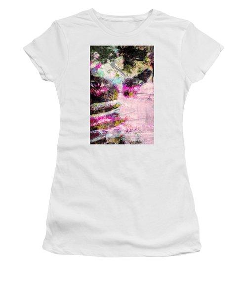 Ian Somerhalder Women's T-Shirt (Junior Cut) by Svelby Art