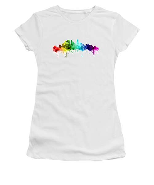 Minneapolis Minnesota Skyline Women's T-Shirt (Junior Cut) by Michael Tompsett