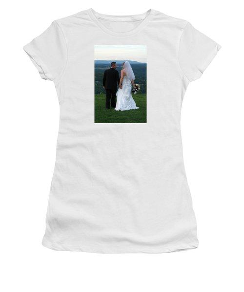 Rebecca And David Women's T-Shirt (Junior Cut) by Michael Dorn