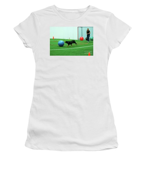 Women's T-Shirt featuring the photograph Donna And Berry by Fred Stearns