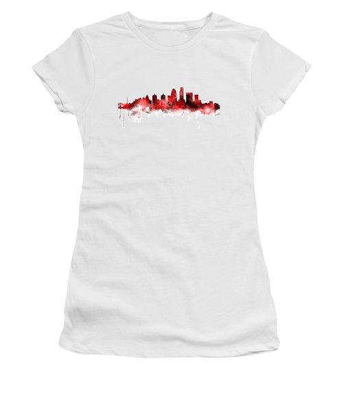 Louisville Kentucky City Skyline Women's T-Shirt