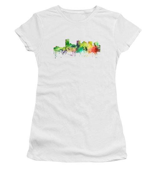 Phoenix Arizona Skyline Women's T-Shirt (Junior Cut) by Marlene Watson