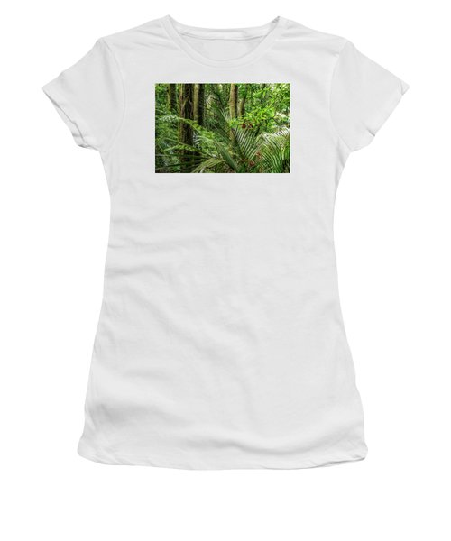 Women's T-Shirt (Junior Cut) featuring the photograph Tropical Jungle by Les Cunliffe