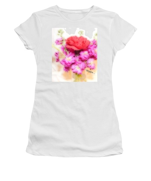 #8742 Soft Flowers Women's T-Shirt (Junior Cut) by Barbara Tristan