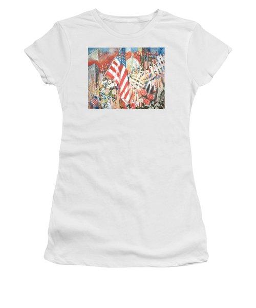 9-11 Attack Women's T-Shirt (Junior Cut) by Alexandra Maria Ethlyn Cheshire