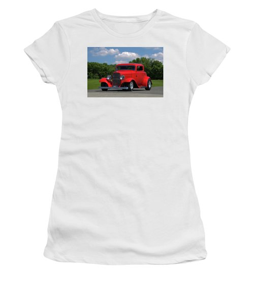 1932 Ford Coupe Hot Rod Women's T-Shirt (Athletic Fit)