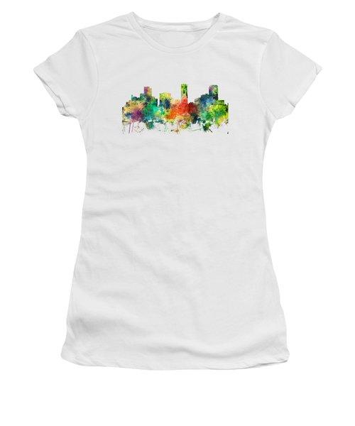 Denver Colorado Skyline Women's T-Shirt (Athletic Fit)