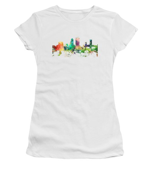 Jacksonville Florida Skyline Women's T-Shirt (Junior Cut) by Marlene Watson