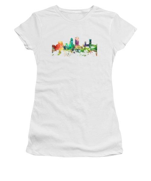 Jacksonville Florida Skyline Women's T-Shirt (Junior Cut) by Marlene Watson