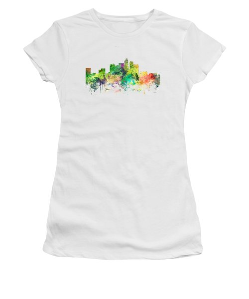 Los Angeles California Skyline Women's T-Shirt (Junior Cut) by Marlene Watson