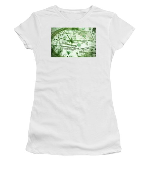 Women's T-Shirt (Junior Cut) featuring the photograph Time Is Money  by Les Cunliffe