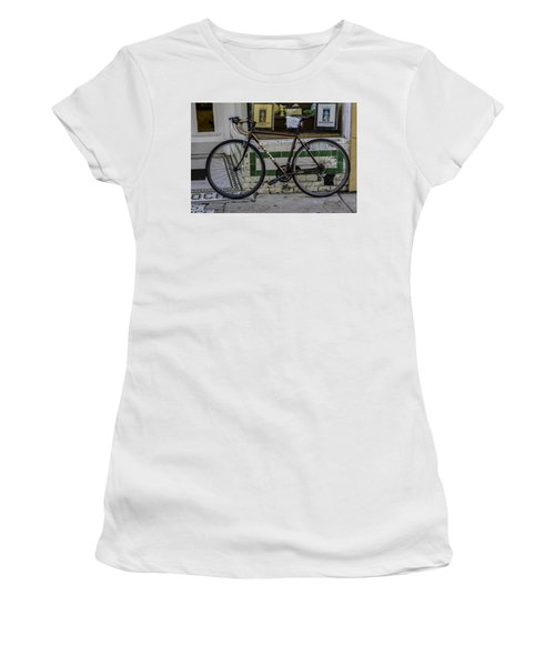 A Bicycle In The French Quarter, New Orleans, Louisiana Women's T-Shirt