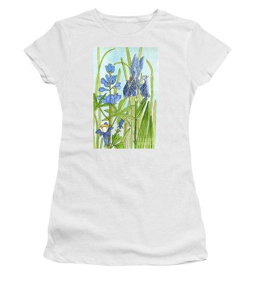 A Blue Garden Women's T-Shirt (Athletic Fit)