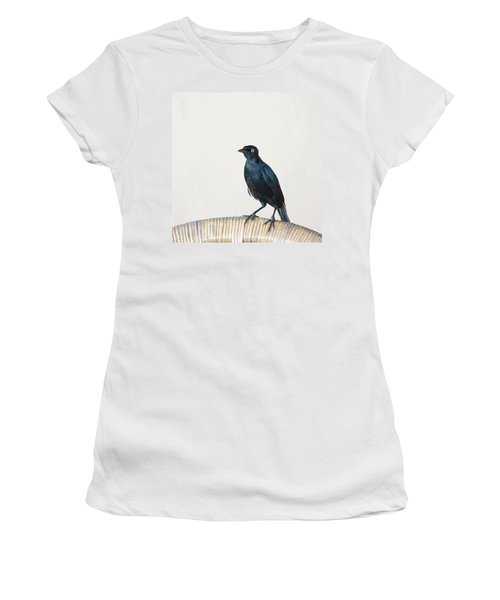 A Carib Grackle (quiscalus Lugubris) On Women's T-Shirt