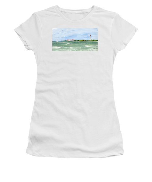 A Clear Day At Cape May Point  Women's T-Shirt (Athletic Fit)