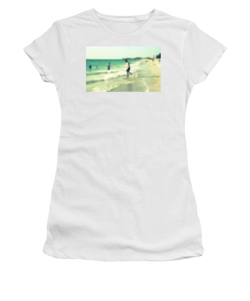 Women's T-Shirt (Junior Cut) featuring the photograph a day at the beach III by Hannes Cmarits