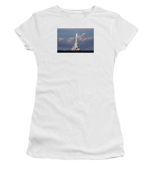 A Delta Iv Rocket Soars Into The Sky Women's T-Shirt
