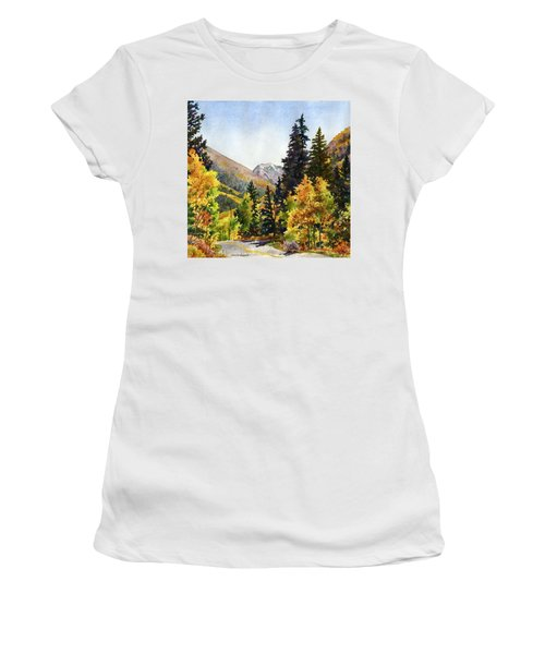A Drive In The Mountains Women's T-Shirt (Junior Cut) by Anne Gifford