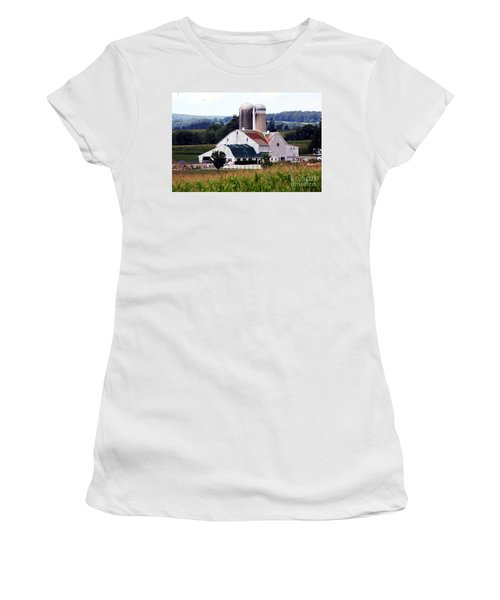 Women's T-Shirt (Junior Cut) featuring the photograph A Farmer's Paradise by Polly Peacock